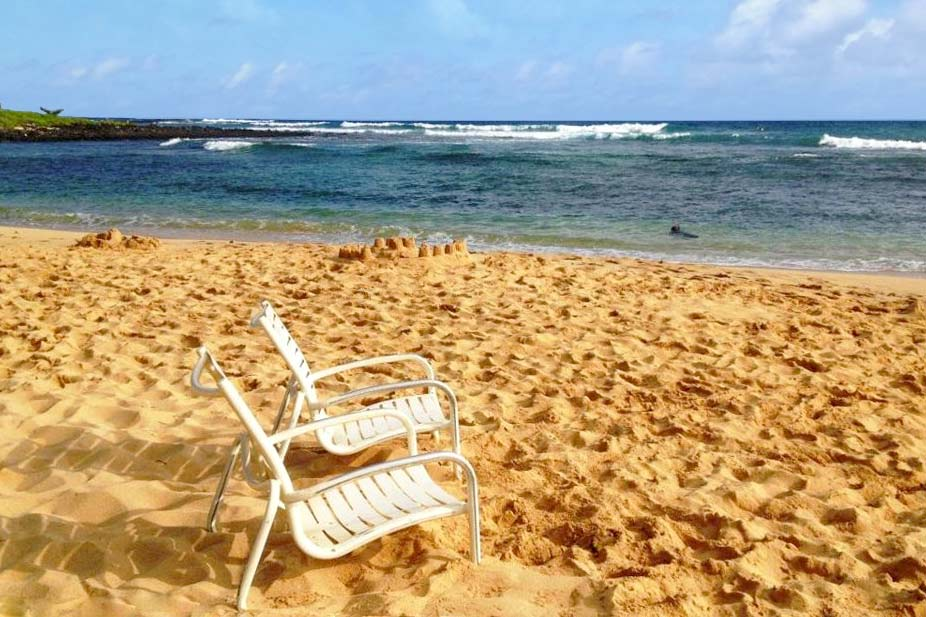 Beach awaits in Kauai